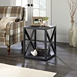Sauder 420281 Side Table, 18.504 L X 18.504 W X 21.969 H, Matte Black