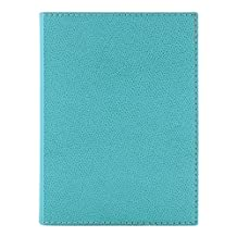 "Quo Vadis Textagenda August 2015 - July 2016 Compact Daily Planner One Day Per Page 4 3/4"" x 6 3/4"" Plain Edge Club Cover Made in USA (Turquoise)"