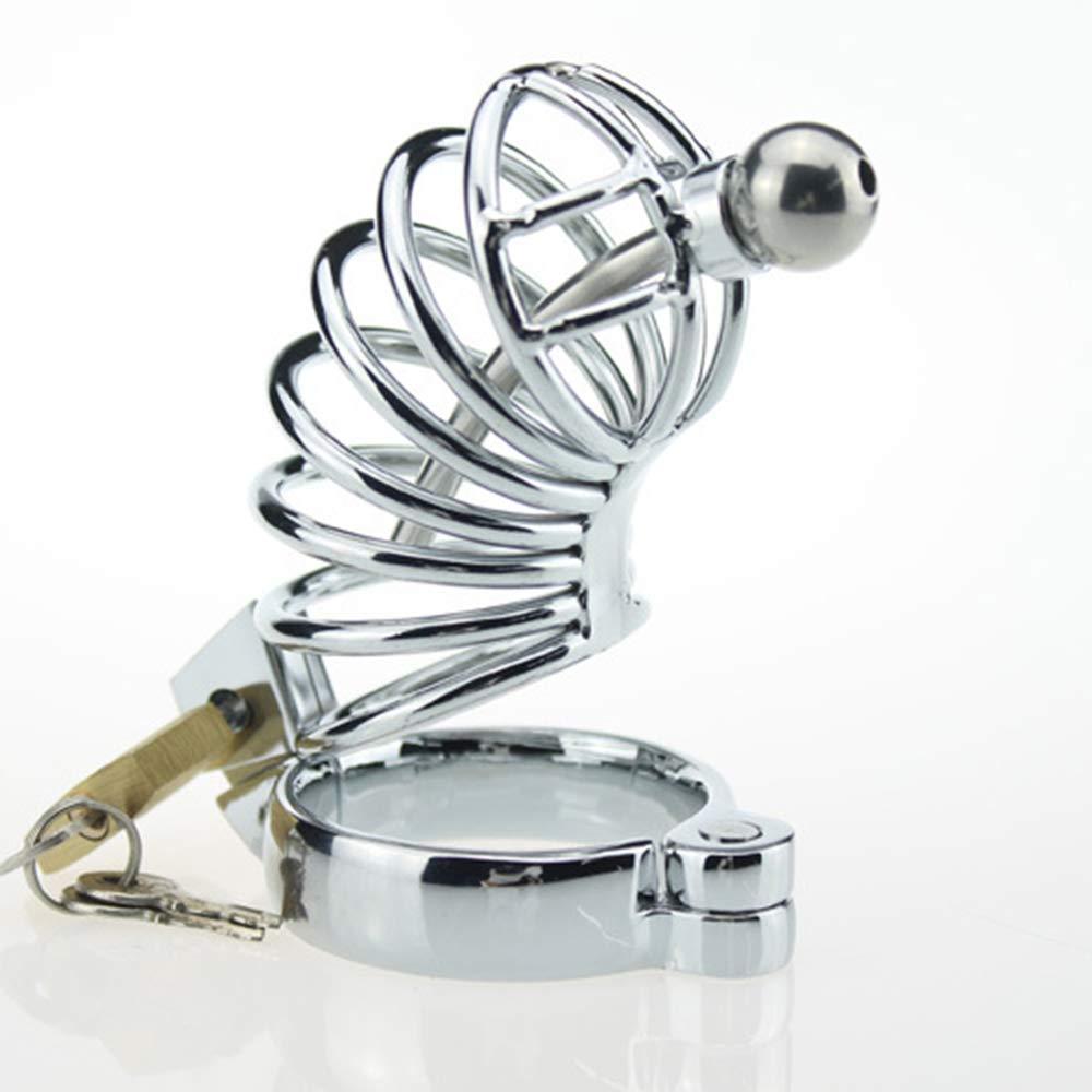 Fei Pene Fei Juguetes para Adultos Hombres Pene Fei Jaula Chastity Lock Dispositivo de castidad de Acero Inoxidable Anti derramamiento (Tamaño : 50mm) 2c33ee