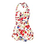 Fashion Print One Piece Swimsuit for Women Lovely Colorful Bathing Suit, Medium