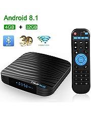 Android 8.1 TV Box, T95 X2 Smart Box con Amlogic S905X2 Quad Core 64 bits CPU 4GB RAM 32GB ROM 2.4GHz y 5GHz Banda Dual WiFi Bluetooth 4.1 HDMI 2.1 100M LAN Enternet