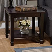 Simple Living Classic Ethan Transitional Style End Table, Perfect To Your Living Room, Rich Espresso Finish