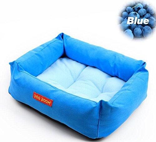 BinSanDa Prodotti per Animali Luxury Pet Dog Puppy Cat Calda Bed House Peluche Cozy Nest Mat Pad (Blu)