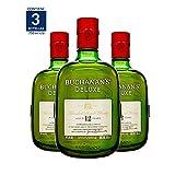 Whisky Buchanan's Deluxe 12 Años 750ML (Paquete de 3)