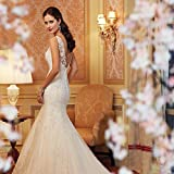 Promotion Customized Lace Backless Wedding Dresses Bride Sexy Mermaid Civil Wedding Gowns