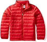 Amazon Essentials boys Water-Resistant Packable Puffer Jacket