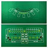 "36"" x 72"" Casino Table Felt Layout by YH Poker"