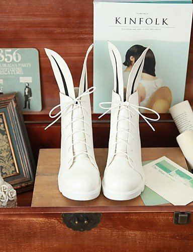 XZZ  Damenschuhe - - - Stiefel - Lässig - Kunstleder - Plateau - Rundeschuh   Modische Stiefel - Schwarz   Weiß B01L1GKHSG Sport- & Outdoorschuhe Hohe Qualität und günstig 730996
