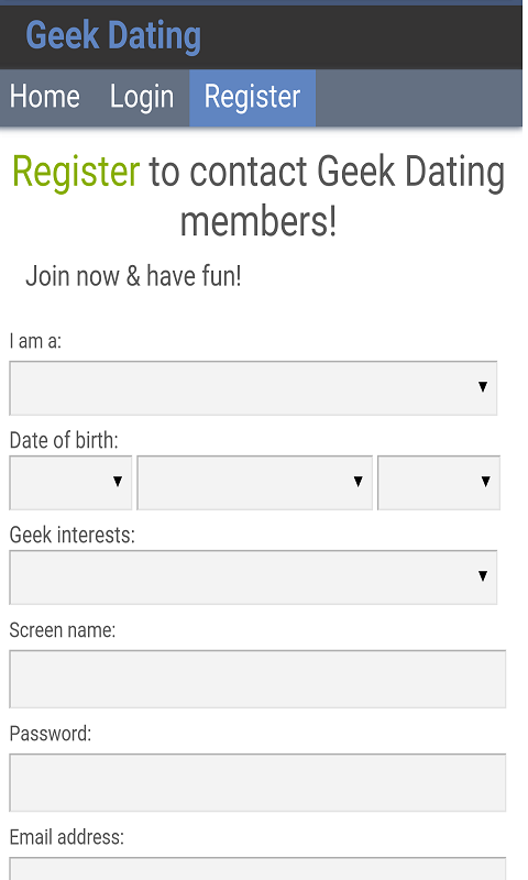 geek dating app
