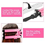 3 Barrel Curling Iron with LCD Temperature