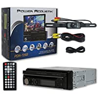 Power Acoustik PDN-726B Car audio Single DIN 1-DIN 7 LCD GPS Navigation DVD CD receiver + Remote & DCO Waterproof Backup Camera with Nightvision