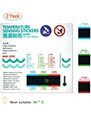Thermometer for Kids Bath Thermometer 2 Pack,Safety Liquid Crystal Material(No Mercury,No Glass),More Scientific and Accurate Data, Easy to Use,Waterproof (Water Temperature Stickers)
