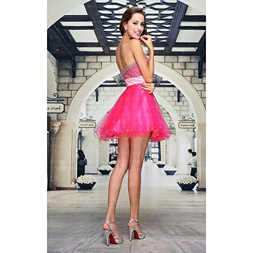 Damen Festamo Pink 44 Abend Design In Kleid Für Gr Mini Ital xY5HUFqx