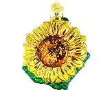 Old World Christmas Garden Sunflower Glass Blown Ornament