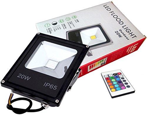 FOCO PROYECTOR LED RGB 20W con Mando Remoto - Exclusivo con Memoria de Color