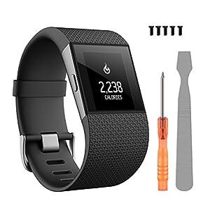 ZEROFIRE Fitbit Surge Bands, Replacement Accessories Strap Fitbit Surge Fitness Super Watch