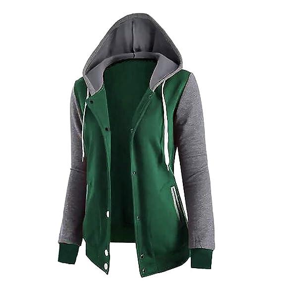 8aae04155d96 Sanyouletoo Hoodie Nähte Langärmelige mit Taschen 4 Knopf Mantel Jacke Damen  Pullover Beiläufige Kapuzenpullover Frühling Herbst