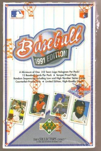 1991 Upper Deck Baseball High Series Card Box: Possible Aaron Autograph, Chipper Jones, Mike Mussina Rookie Cards