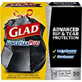 REFD ForceFlexPlus Drawstring Large Trash Bags - 30 Gallon - 50 Count, 4 Pack