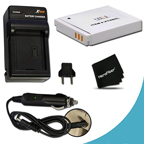 High Capacity Replacement Canon NB-6L / NB-6LH Battery with AC/DC Quick Charger Kit for Canon PowerShot SX610, SX710, SX530, SX520, SX600 HS, SX700 HS, SX510 HS, SX500 IS, SX280 HS, SX260 HS, SX170 IS, SD1300 IS, SD1200 IS, SD980, SD770, SD1300, D30, D20, D10, IXUS 85 IS, IXUS 95 IS, IXUS 200 IS Digital Cameras