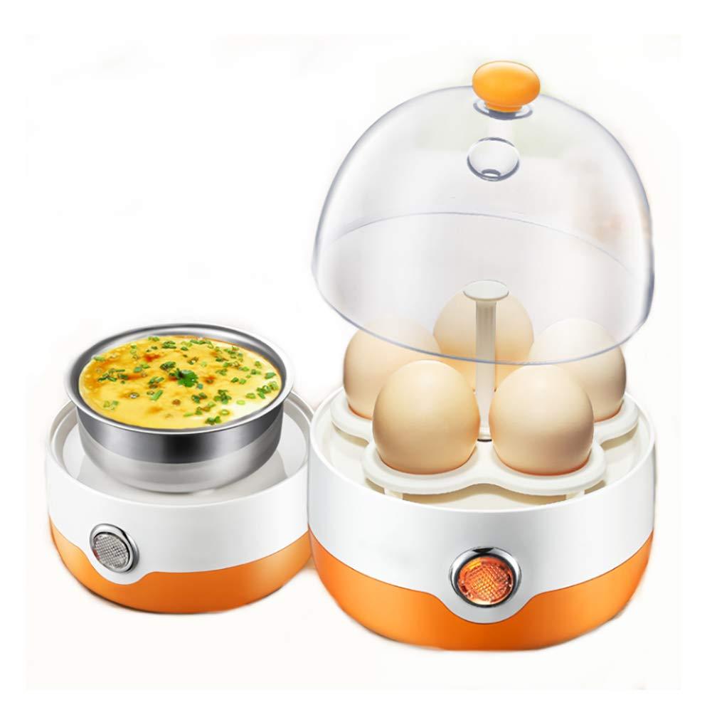 SVNA Egg Cooker Deluxe Mini Steamer Egg Boiler 5 Eggs Capacity Suitable for Steamed Dumpling Steamed Egg Hot Vegetable Bottle Disinfection-Orange