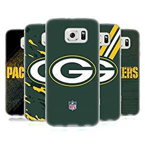 Official NFL Green Bay Packers Logo Soft Gel Case for Samsung Galaxy S6 by Head Case Designs