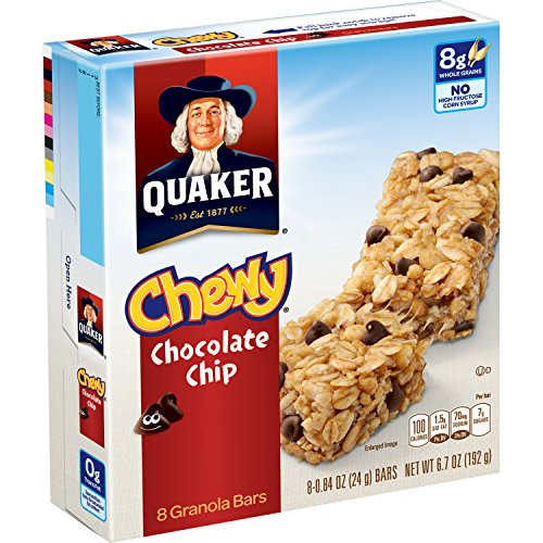 030000311820 - Quaker Chocolate Chip Bars - 0.84 oz - 8 Count carousel main 3