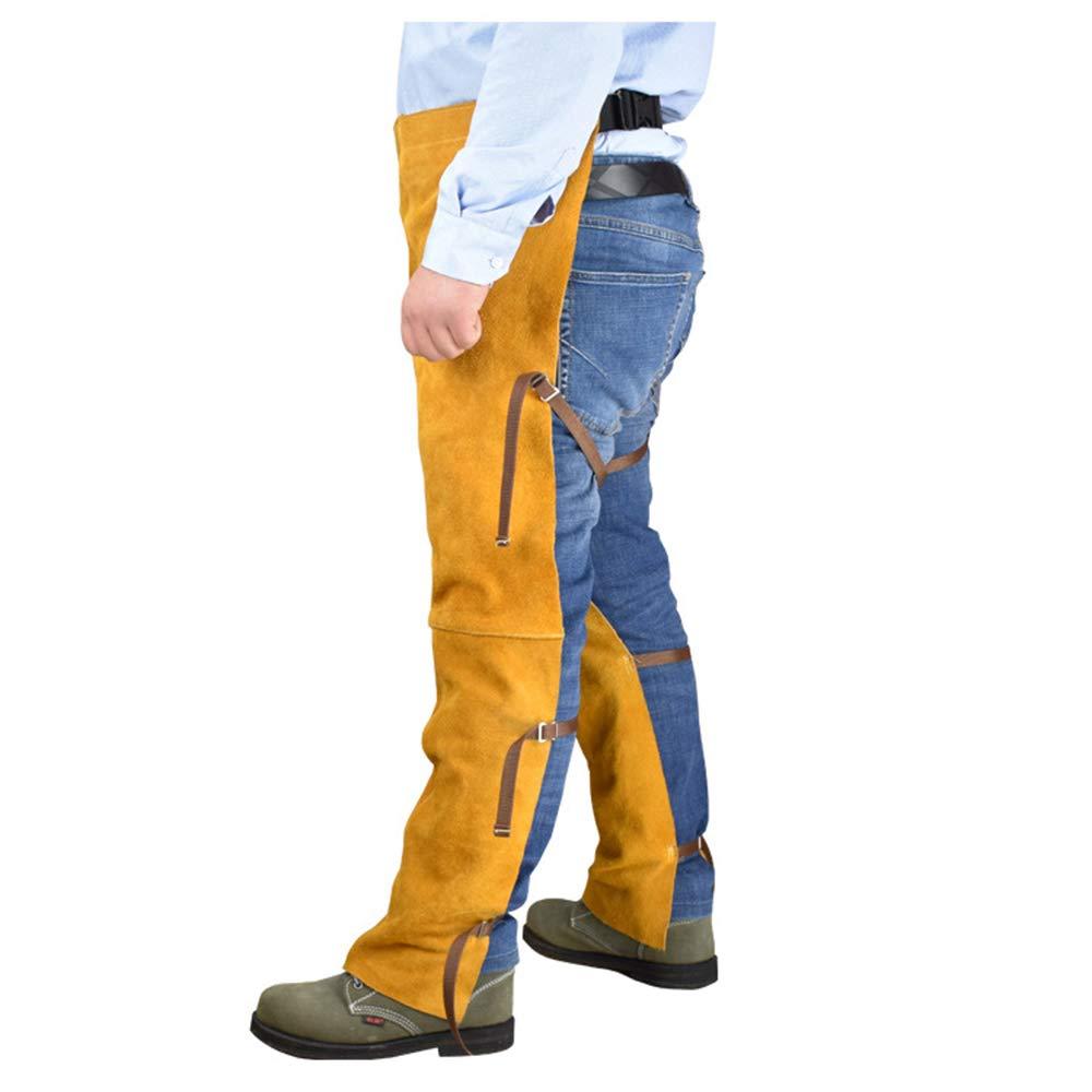 LYY Cowhide Electric Welding Overoles Resistente al Desgaste Alta Temperatura Soldador Rodilleras Leggings ignífugo Anti-Scalding Soldadura Ropa Protectora: ...