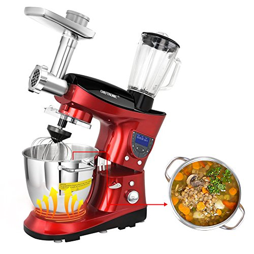 CHEFTRONIC All in One Stand mixer, 1000W Kitchen Electric...