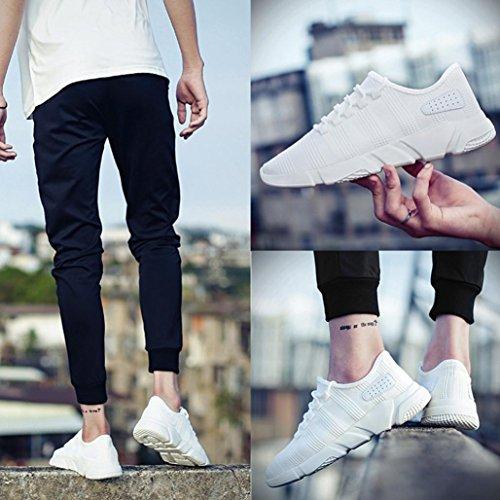 FNKDOR Leichte Mode Turnschuhe Atmungsaktiv Sportschuhe Weiß Herren Sneaker Sport Laufschuhe Schuhe rq4nxfrB