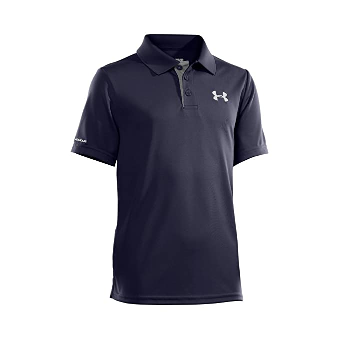 62bb0e63 Under Armour Boys' Match Play Polo, Midnight Navy /White, Youth X-