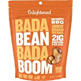 Enlightened Bada Bean Bada Boom Plant Protein Gluten Free Roasted Broad (Fava) Bean Snack, Mesquite BBQ, 3 Ounce, 6 Count
