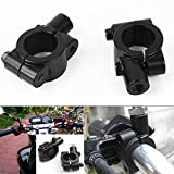 Ownsig 1 X 1 Sets (Left & Right) Black Finish Clamp On Mirror Adapter Elaborately Functional Universal Portable