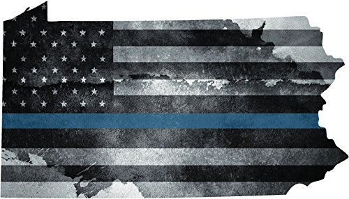 Pennsylvania PA tattered US blue line State Flag Police Law Enforcement - Crossings Pa