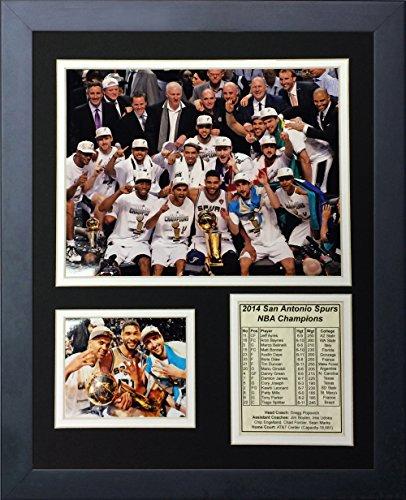 Legends Never Die 2014 San Antonio Spurs NBA Champions Podium Framed Photo Collage, 11 x -