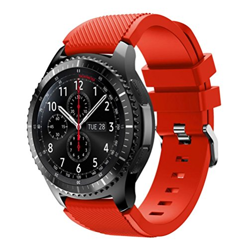 Price comparison product image GBSELL New Fashion Sports Silicone Bracelet Strap Band For Samsung Gear S3 Frontier (Red)