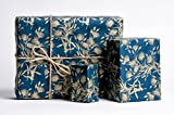 Bouquet of Gold / Wrapping Paper / Navy & Gold