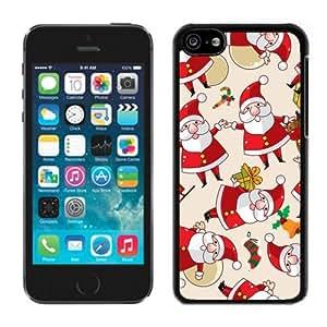 MEIMEIIphone 5C Case,Happy Christmas Santa Claus Iphone 5C Black Cover CaseMEIMEI