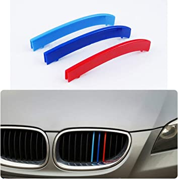 //////M-Sport 3-Color Grille Insert Trims For BMW E60 5 Series Center Kidney Grill