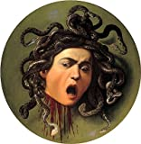 Caravaggio (Head of Medusa, c.1596/98) Canvas Art Print Reproduction (21.7x21.7 in) (55x55 cm)