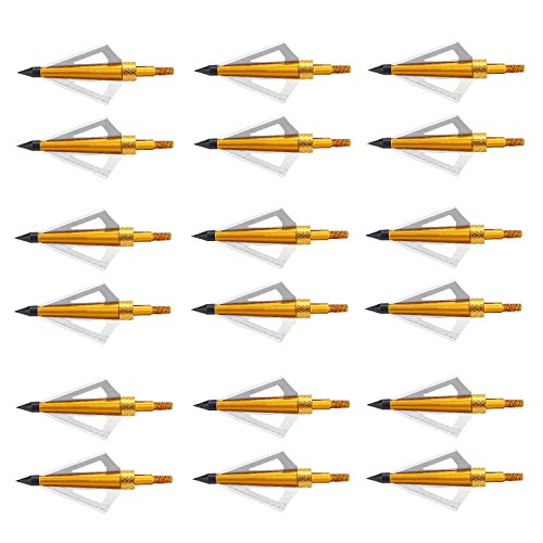 - Aiskaer 18 Pack 125 Grain 3 Fixed Blade Hunting Broadheads Archery Arrow Hunting Points Metal Tips for Compound Bow and Crossbow
