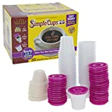 Disposable Cups for Use in Keurig 2.0 Brewers - 50-2.0 Cups, Lids, and Filters - Use Your Own Coffee in 2.0 K-Cups