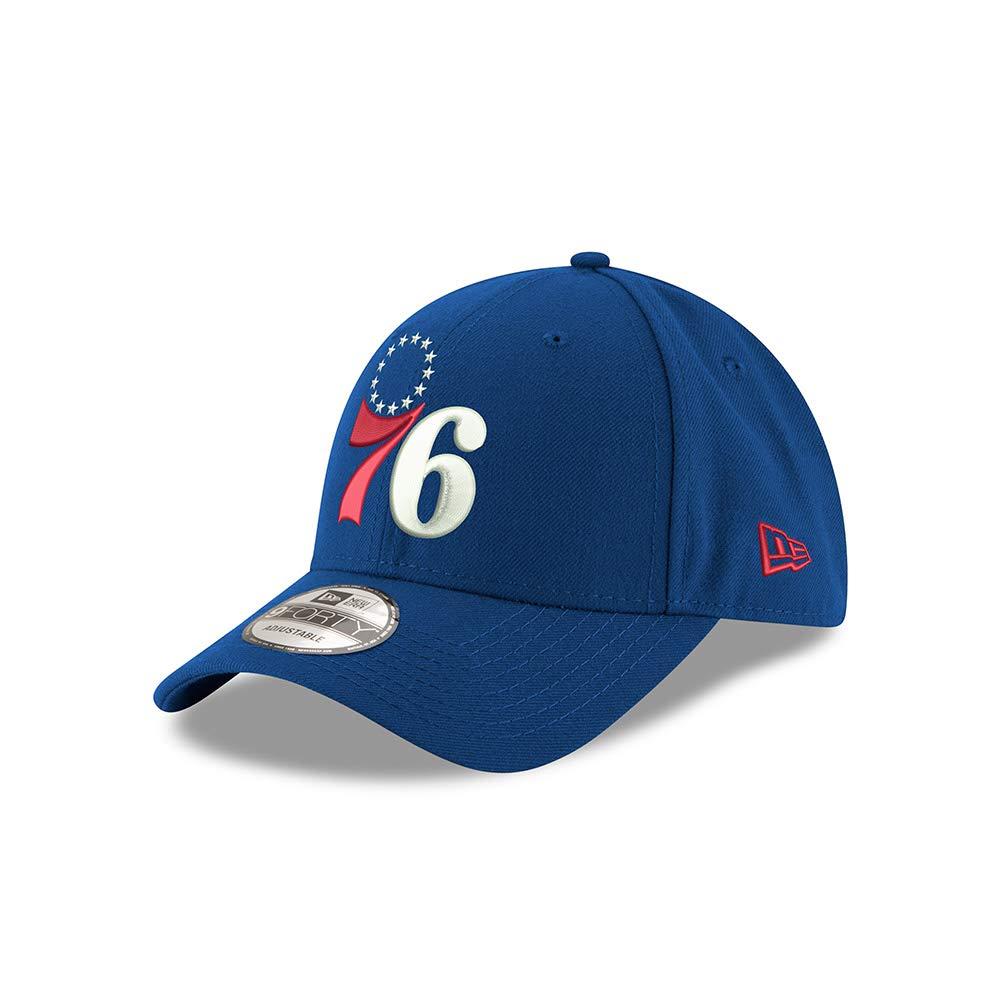 90a90f898 Amazon.com   New Era Philadelphia 76ers Blue NBA The League Adjustable Dad  Hat   Sports   Outdoors