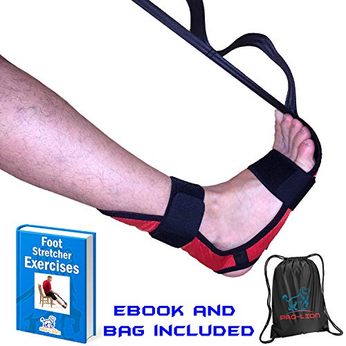 The Most Effective Foot Stretcher for Plantar Fasciitis, Heel Spurs, Strains & Achilles Tendonitis and Ankle Ligaments | EBOOK and Bag Included | Band & Calf Muscle Stretches