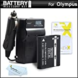 Battery And Charger Kit For Olympus STYLUS XZ-2 iHS, XZ-2iHS, SH-50 iHS, SH-50MR, Stylus SH-1, SH-2, TG-2 iHS, TG-3 Digital Camera Includes Extended Replacement (1500Mah) LI-90B, LI-92B Battery + Ac/Dc Rapid Travel Charger + MicroFiber Cloth + More