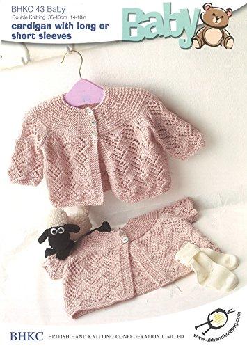 25cabd43d UK Hand Knit Association Baby Cardigans DK Knitting Pattern BHKC 43 ...