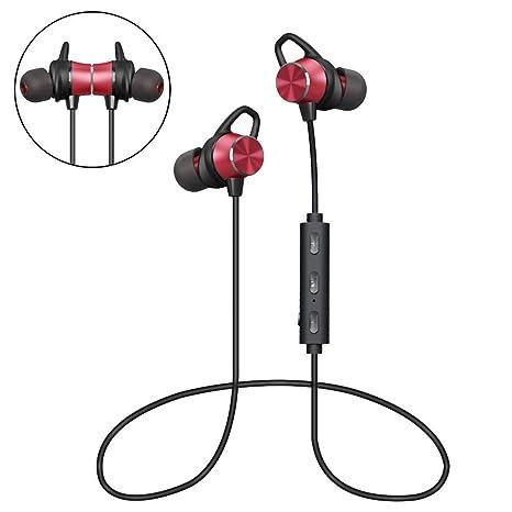 Auriculares Bluetooth Magnéticos, Auriculares Deportivos Inalámbricos con Micrófono, IPX4 Impermeable HD Estéreo Auriculares In