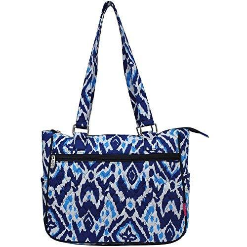 Ngil Quilted Cotton Shoulder Bag (Blue Ikat Navy)