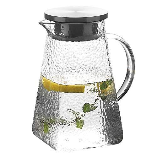 Jarra de vidrio con tapa, calentamiento directo, jarra de agua con ...