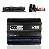 GGGarden 3800W RMS 4 Channel 4 Ohm Powerful Car Audio Power Stereo Amplifier Amp